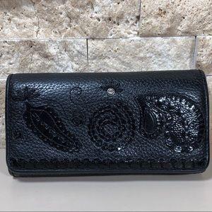 Brighton Wallet Leather Black Purse Large Clutch